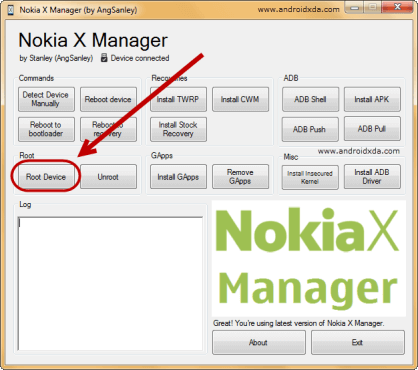 Nokia-X-Manager-Device-Root-Device