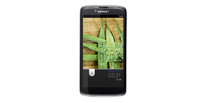 Sharp SH-631W Android Smartphone Black Front