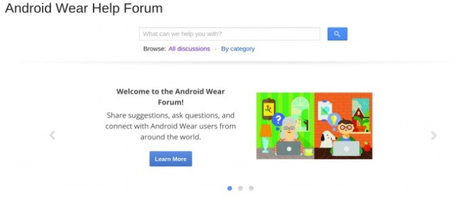 Android Wear Help Forum стал доступен во всем мире