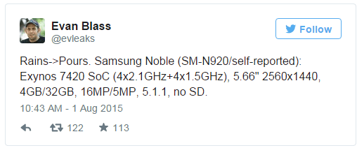 2015-08-03 18-59-34 Samsung Galaxy Note 5 specs leaked, no microSD