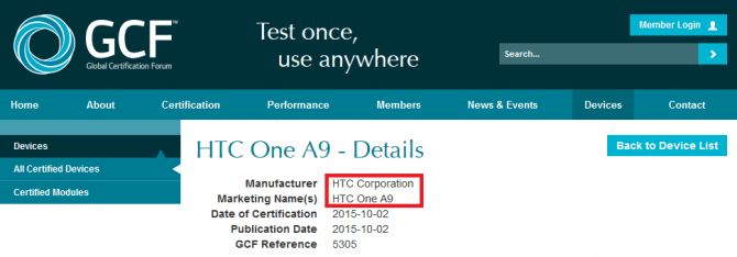 HTC-One-A9-receives-GCF-certification